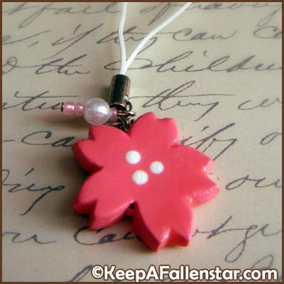 Sakura Flower Strap Charm Design © OurDestiny Designs and Keep A Fallen Star™