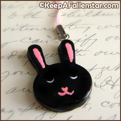 Black Bunny Strap Charm Design © OurDestiny Designs and Keep A Fallen Star™